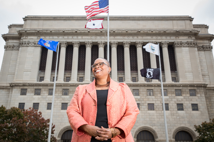 Joan Blakey says a dedicated court system could help women with a history of prostitution address the mental health, substance abuse and education needs that often are barriers to a successful exit from prostitution. (UWM Photo/Troye Fox)