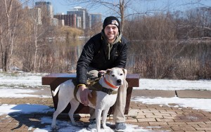 Andy Smith says his service dog, Bella, has played an enormous role in his transition to civilian life after two tours of combat duty in Iraq.
