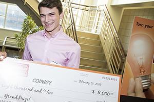 Derek Urben, grand prize winner. (Photo/Courtesy Lubar School of Business)