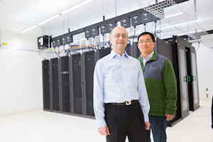 Distinguished Professor Abbas Ourmazd and Senior Scientist Russell Fung.