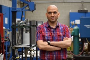 Meysam Tabandeh-Khorshid is moving on to a paid internship with Apple after earning his doctorate in materials science and engineering from UWM. (UWM Photo/Carolyn Bucior)