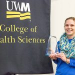 Amanda Smith, clinical assistant professor in the College of Health Sciences, won the Byoung Kim Teaching Excellence Award.