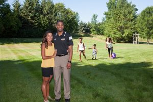 Lavall Jordan and his family taken at their home