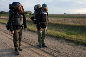 "In the documentary ""Almost Sunrise,"" two veterans with ties to UWM walk from Milwaukee to Santa Monica, Calif., to raise awareness of veterans issues. (Courtesy of the Milwaukee Film Festival)"
