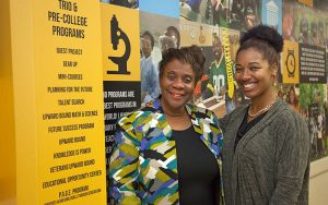 TRIO and PreCollege Dircetor April Holland and Ka Shena Harris at their UWM  office.