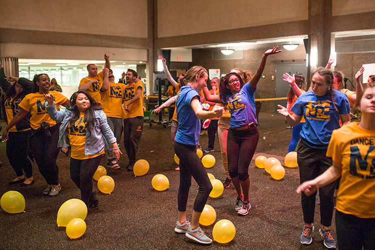 The crowd continues to boogie down after eight hours of dancing for the cause. (UWM photo/ Elora Hennessey)
