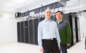 Abbas Ourmazd, UWM Distinguished Professor of Physics (left), and Russell Fung, senior scientist, say their algorithm could be used in numerous applications.