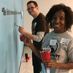 Patricia Patterson (BS '86 Criminal Justice) and Dave Steele (MUP '04) were among the UWM alums helping out on Martin Luther King Jr. Day of Service. (Contributed photo)