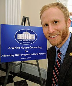 Craig Wiroll worked with the Rural Council, part of the Domestic Policy Council, during his White House internship. (Photo courtesy of Craig Wiroll)