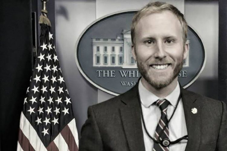 UWM graduate Craig Wiroll recently completed a semester-long internship at the White House. (Photo courtesy of Craig Wiroll)