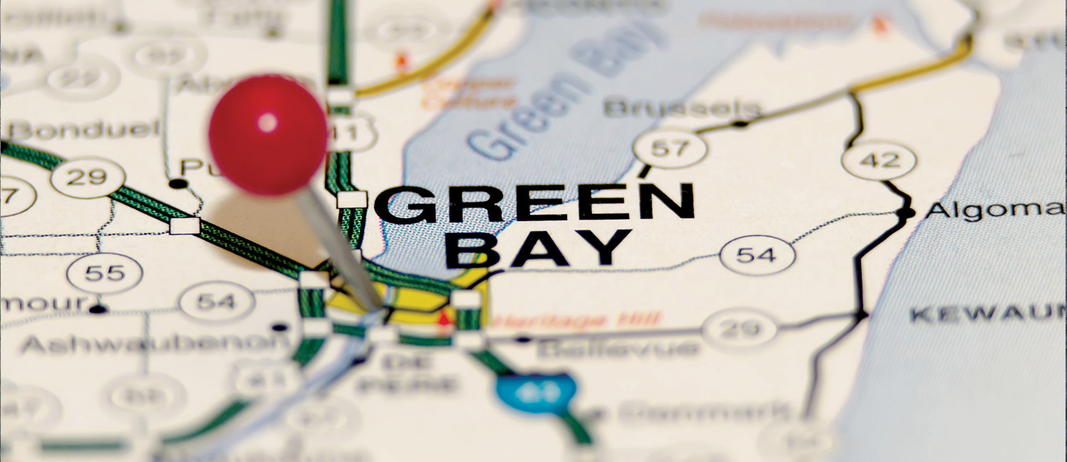 A map of Green Bay.