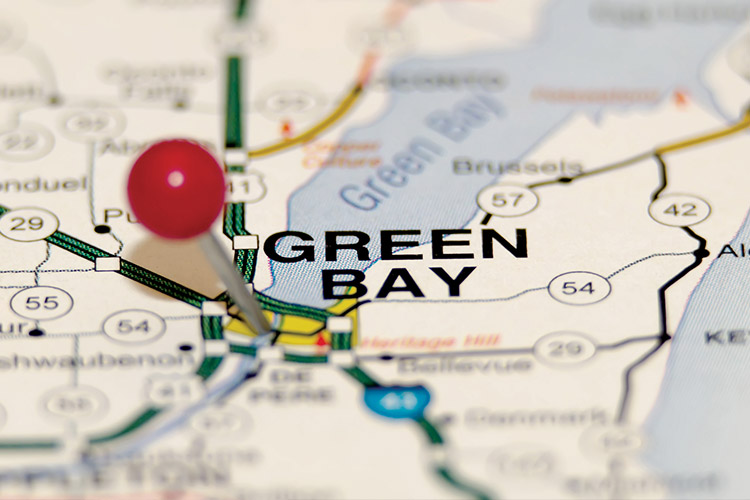 Map of Green Bay.