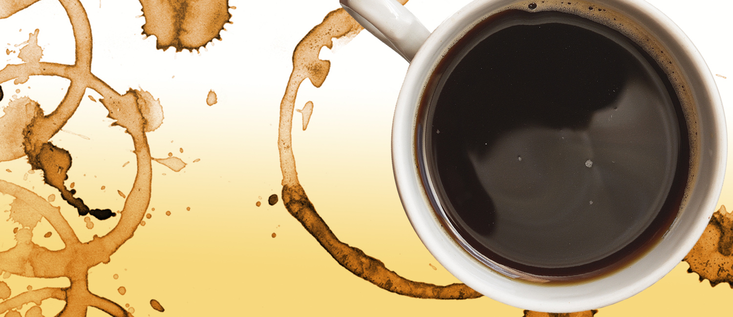 Image of coffee cup and coffee stain