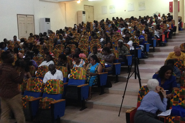 A gathering of educators in Senegal.