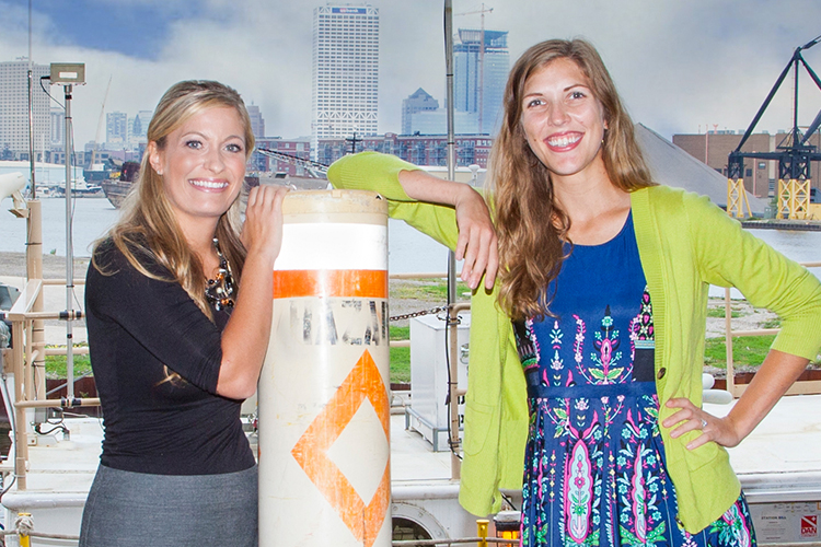 Danielle Cloutier (left) and Shelby LaBuhn.