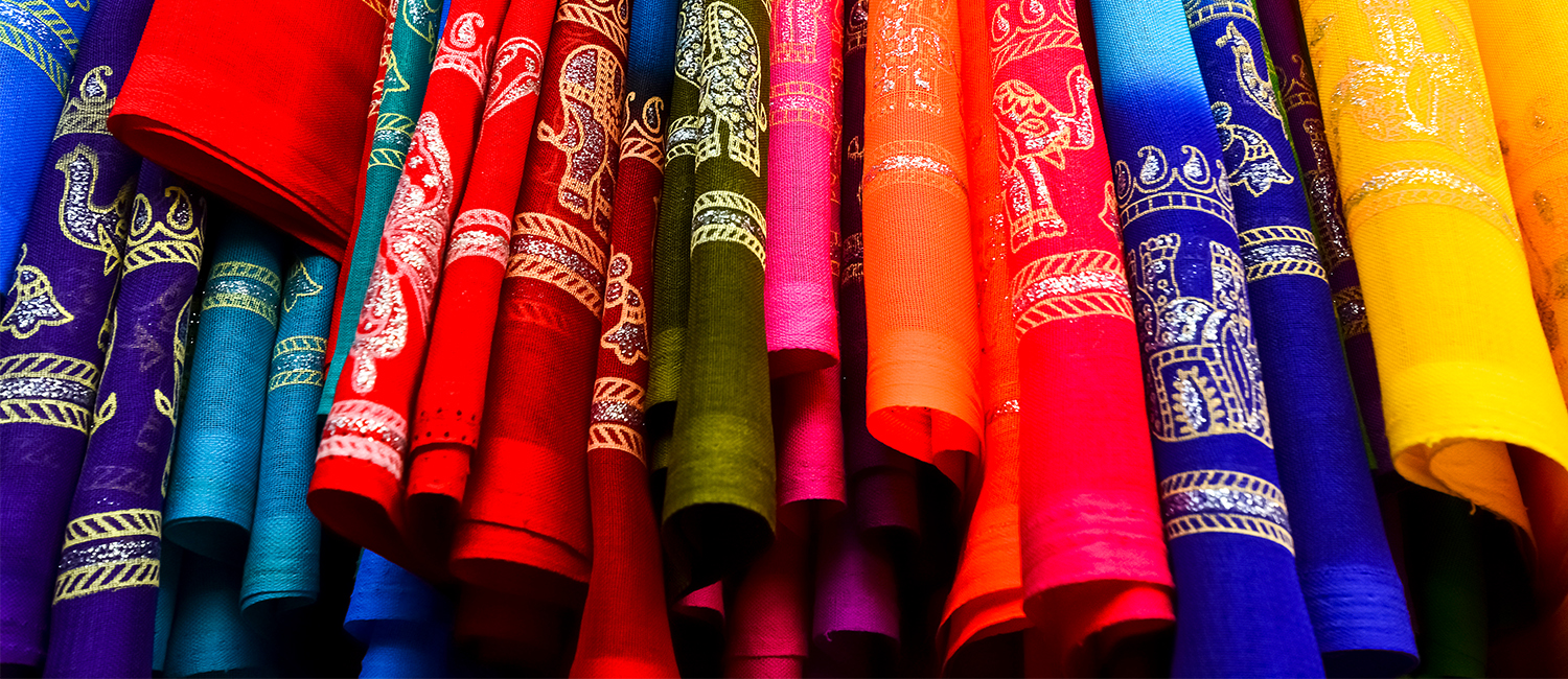 A photo of Indian cloth.