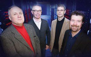 UWM LIGO researchers (from left) Alan Wiseman, Patrick Brady, Jolien Creighton and Xavier Siemens.