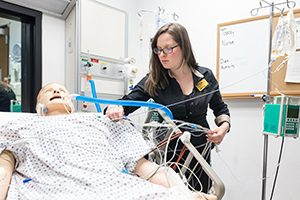 Nursing student Lindsey Roddy is a member of the first cohort of nursing students enrolled in I-Corps entrepreneurial training, a pilot program funded by the National Science Foundation to encourage more commercial products coming from academic research. (UWM Photo/Elora Hennesey)