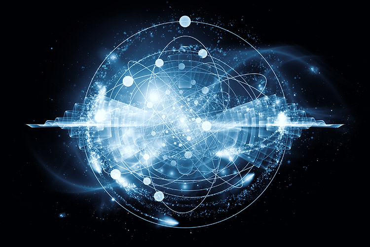 A representation of gravitational waves.