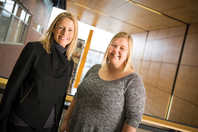 Barbara Meyer (left) and Monna Arvinen-Barrow