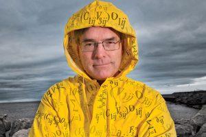 Paul Roebber in a rain jacket.