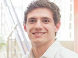 Jordan Mather won the grand prize of $8,000 in the New Ventures Business Plan Competition, hosted by the Lubar School of Business.