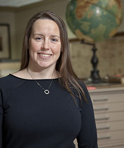 Marcy Bidney, curator of the American Geographical Society Library