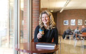 Tracy Rank-Christman, assistant professor of business at UWM, has conducted research on what happens when businesses try the personal approach with customers. (UWM Photo/Elora Hennesey)