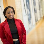 Tiffinie Cobb has been working with the Milwaukee Succeeds project, part of the Greater Milwaukee Foundation. (UWM Photo/Troye Fox)