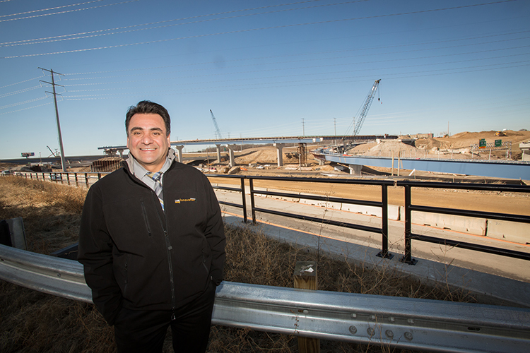 UWM alum Bob Gutierrez is leading the $1.7 billion reconstruction of the Zoo Interchange, Wisconsin's largest and busiest. (UWM Photo/Troye Fox)