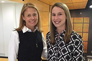 Stacy Gnacinski stands next to mentor Barbara Meyer.