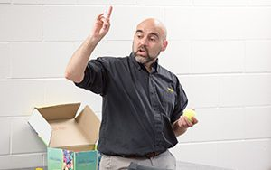Michael Steele, UWM associate professor of education, leads the Milwaukee Master Teacher Partnership. (UWM Photo/Troye Fox)