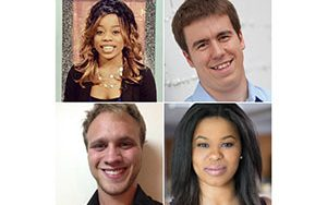 Composite image shows four students.