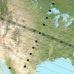Lines across a map of the U.S. show the path of the moon's shadow.