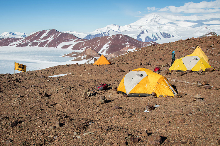 UWM researchers camp in Antarctica.