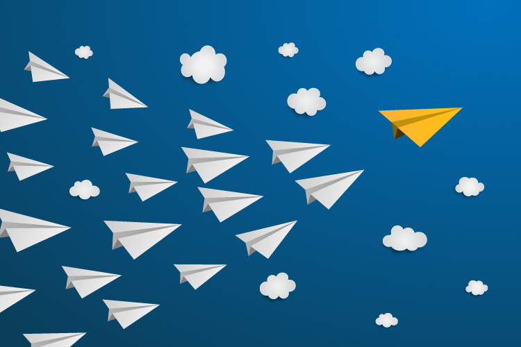 illustration of paper airplanes