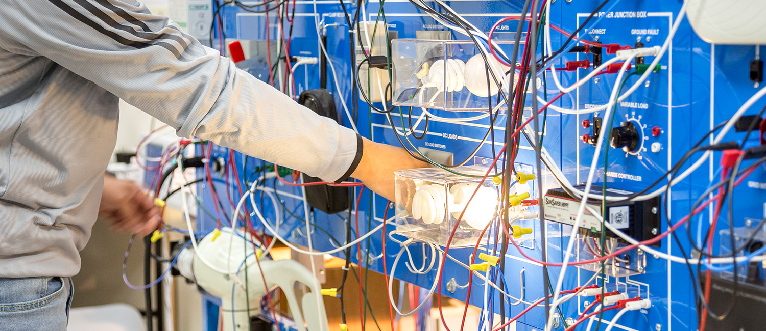 Uwm Works At The Forefront Of Developing Microgrid Technology Circuit Board Wiring Blue With Wires