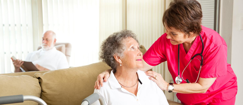 Nurse with an elderly woman