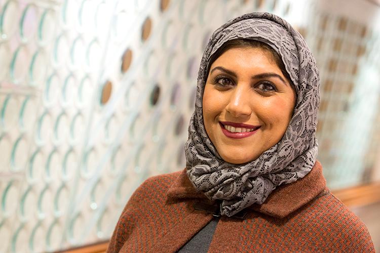 Portrait of Amal Ali Al-Ghassani.