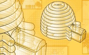 Illustration of inflatable buildings