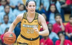 UWM women's basketball player Jenny Lindner