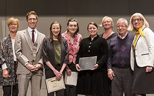 Winners and judges from the UWM 3MT event.