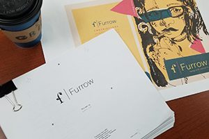 A photo of the print version of the journal Furrow.
