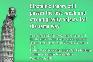 Screen shot from video on Einstein's theory