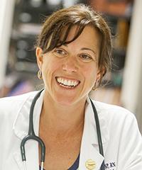 Kristie Brooke at the Silver Spring Community Nursing center that UWM runs.