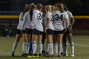 The UWM women's soccer team.