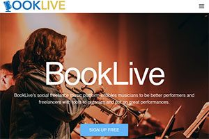 Screen capture of Booklive site