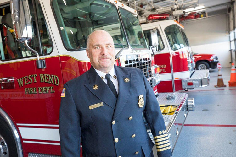 A chance to help drew UWM at Washington County alum to firefighting