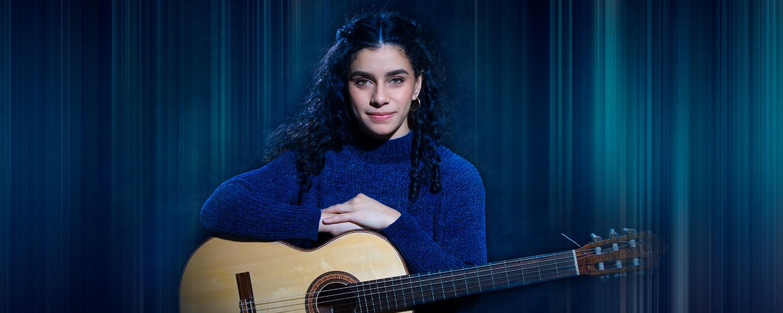 UWM guitar student Leonela Alejandro