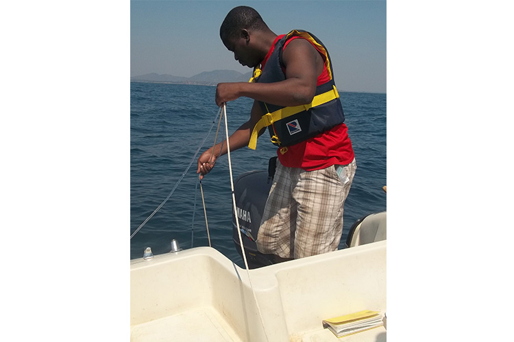 Maxon Ngochera on Lake Malawi